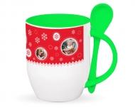 Mug with spoon, Christmas Spent Together