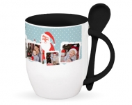 Mug with spoon, Christmas Spent Together