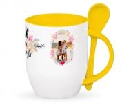 Mug with spoon, True Love