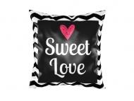 Pillow, cotton, Sweet Love, 25x25 cm