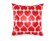Pillow, cotton, A pillow with a heart pattern, 38x38 cm