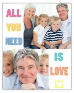 Photopanel, All you need is love, 10x15 cm