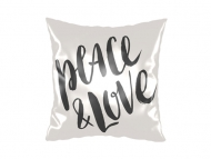 Pillow, cotton, Peace&Love, 25x25 cm