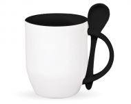 Mug with spoon, Empty Template