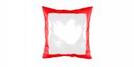 Pillow, suede, Empty Template, 40x40 cm
