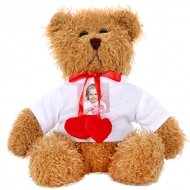 Stuffed toy Teddy bear with hearts, Your Brown Teddy Bear Design