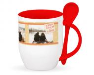 Mug with spoon, Keep Calm and...