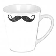 Latte mug, Moustache
