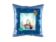 Pillow, suede, Sweet Kindergarten Memories, 40x40 cm