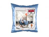 Pillow, suede, Comic strip, 40x40 cm