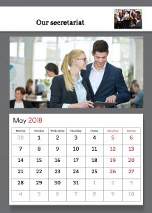 Calendar, Company's Calendar, 20x30 cm
