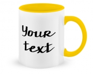 Mug with spoon, Your Text