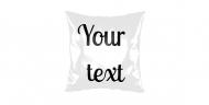 Pillow, cotton, Your Text, 25x25 cm
