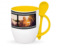 Mug with spoon, Moviegoer's Mug