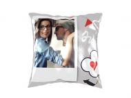 Pillow, cotton, I Love You, 25x25 cm