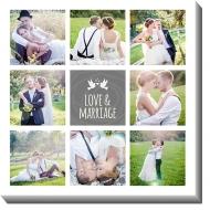 Canvas, Love&marriage, 30x30 cm