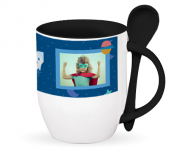Mug with spoon, Sweet Kindergarten Memories