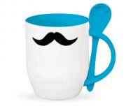 Mug with spoon, Moustache