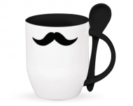 Mug with spoon, Moustache