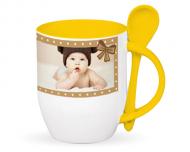 Mug with spoon, Your Tiny Tot's Mug
